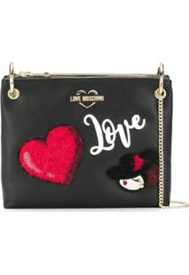 Love Moschino Clutch 'Love' - Preto