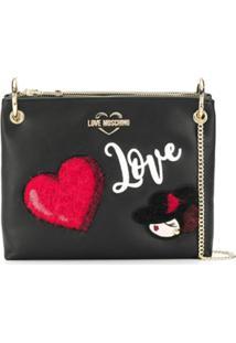 Love Moschino Clutch 'Love' - Preto