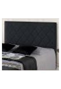 Cabeceira Topázio Solteiro Plus Preto