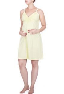 Camisola Gestante Amamentação Lisa - Amarelo > Exg > - Feminino