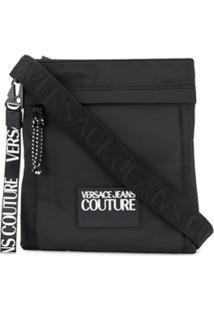 Versace Jeans Couture Logo Patch Shoulder Bag - Preto