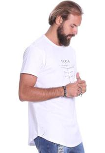 Camiseta Manga Curta Vlcs 18544 Masculina - Masculino-Branco