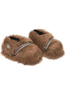 Pantufa 3D Ricsen Chewbacca - Unissex-Marrom
