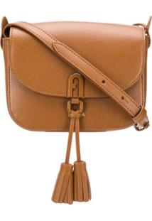 Furla 1927 Tassel-Embellished Crossbody Bag - Marrom