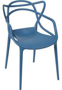 Cadeira De Jantar Solna- Azul Petrã³Leo- 83,5X54X43Cmor Design
