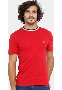 Camiseta Lacoste Regular Fit Frisos Croco Masculina - Masculino