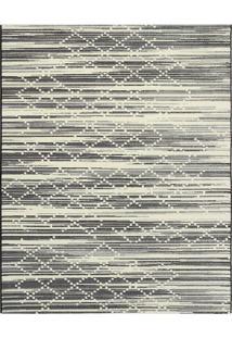 Tapete Classe A Abstrato- Preto & Off White- 160X100Tapete Sã£O Carlos