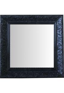 Espelho Moldura Rococó Raso 16388 Preto Art Shop