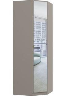 Módulo De Canto 1 Porta C/ Espelho Obliquo Elegance 4205A-Móveis Castro - Nacar