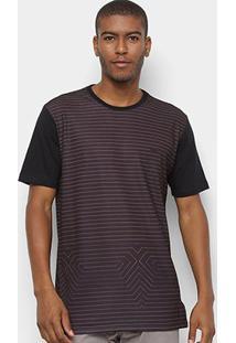 Camiseta Mcd Especial Listras Masculina - Masculino-Caramelo