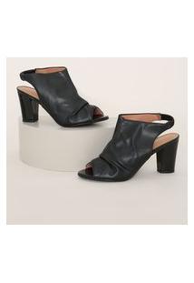 Sandal Boot Feminina Vizzano Salto Médio Preta