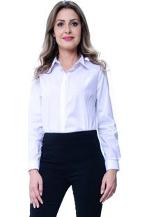 Camisa 101 Resort Wear Tricoline Lisa Com Reguladores Branca