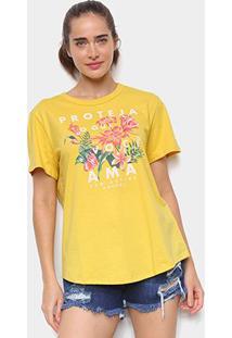 Camiseta Colcci Floral Feminina - Feminino