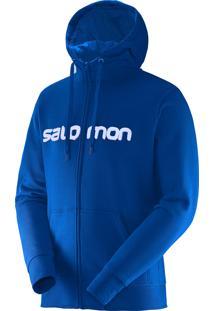 Blusa Salomon Masculina Fz Hoodie Azul Yonder Egg