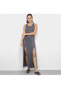 Vestido Longo Tricats Neon Vibes - Feminino-Chumbo