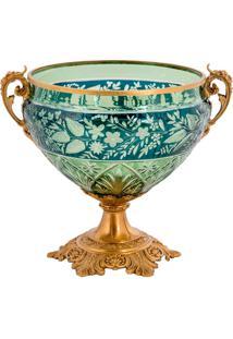 Vaso De Cristal E Bronze Ii - Linha Light Green