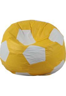 Puff Ball Infantil Futebol - Stay Puff - Amarelo