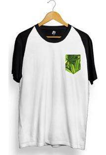 Camiseta Bsc Raglan Leaf Pocket - Masculino