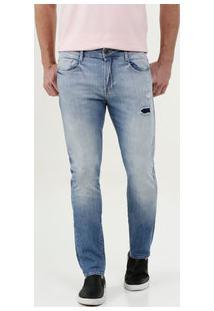 Calça Masculina Jeans Skinny Puídos Mr