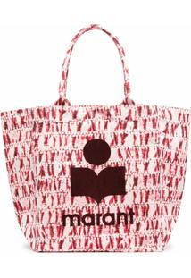 Isabel Marant Bolsa Tote Com Estampa De Logo - Vermelho