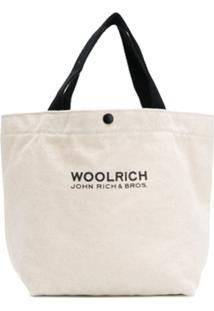 Woolrich Bolsa Tote Com Logo - Neutro