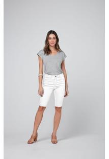 Bermuda Slim Em Sarja Malwee Branco - 34