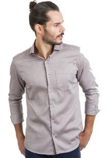 Camisa Di Sotti Comfort Dobby Rosê - Masculino