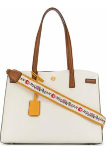 Tory Burch Bolsa Transversal Com Alça Walker Colour-Block - Branco