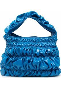 Molly Goddard Bumpy Thick-Handle Shoulder Bag - Blue