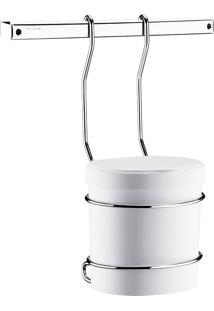 Suporte Brinox Lixeira Plástica 2,5L Prata.