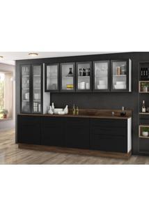 Cozinha Compacta Exclusive 10 Pt 6 Gv Preta