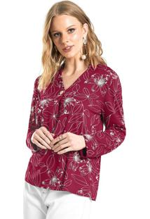 Blusa Estampada Feminina Vermelho
