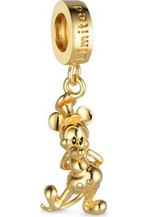 Pingente Life Mickey 90 Anos Vintage Gold