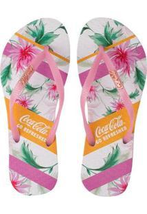Chinelo Coca Cola Flower Bands Feminino - Feminino