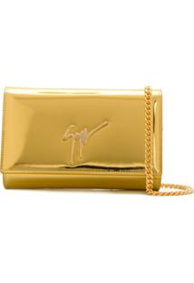 Giuseppe Zanotti Design Lory Clutch Bag - Dourado