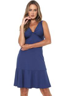 1082387bec Kanui. Vestido Azul Marinho Mercatto ...