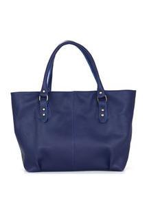 Bolsa Felice Luxo Em Couro Azul
