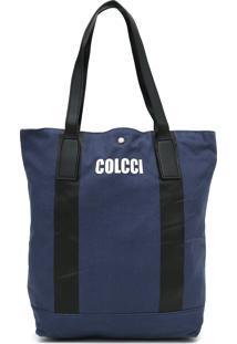 Bolsa Colcci Logo Azul