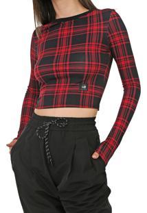 Blusa Cropped Ellus 2Nd Floor Florence Vermelha - Vermelho - Feminino - Viscose - Dafiti