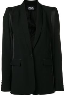 Karl Lagerfeld Blazer De Smoking - Preto