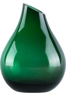 Vaso De Vidro Gota Verde - Incolor - Dafiti