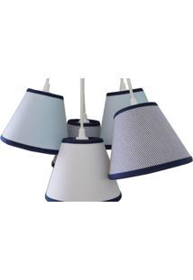Luminária Cacho Menino Crie Casa Azul E Branco