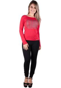 Blusa Ragla Com Silk - Banna Hanna - Feminino-Vermelho