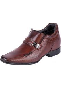 Sapato Social Rafarillo Vegas Alth Com Elevação 7 Cm Mogno Masculino - Masculino-Marrom