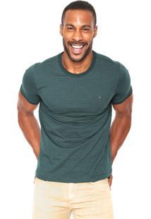 Camiseta Aramis Regular Fit Listrada Verde