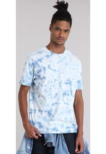 Camiseta Tie Dye Azul Claro