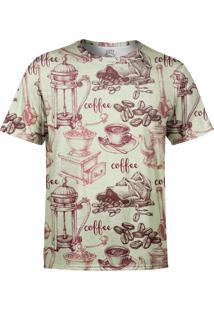 Camiseta Estampada Over Fame Café/Bege