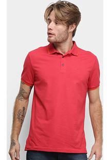 Camisa Polo Ellus Frisos Classic Masculina - Masculino-Vermelho