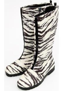 Bota Zebra Verniz - Feminino-Preto