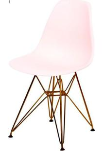 Cadeira Eames Polipropileno Salmao Base Cobre - 45978 - Sun House